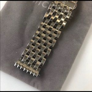 Michele 18mm deco Stainless steal bracelet
